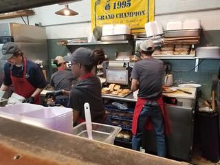 Behind the counter at K.C. Joe's