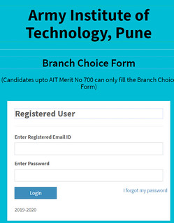 AIT Pune Branch Preference  Filling