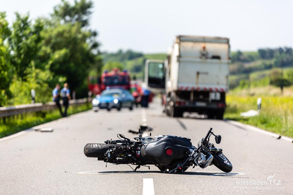 Tödlicher Motorradunfall B8 Nierstein/Nackenheim 07.06.19