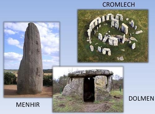Diferencia entre menhir, dolmen y cromlech
