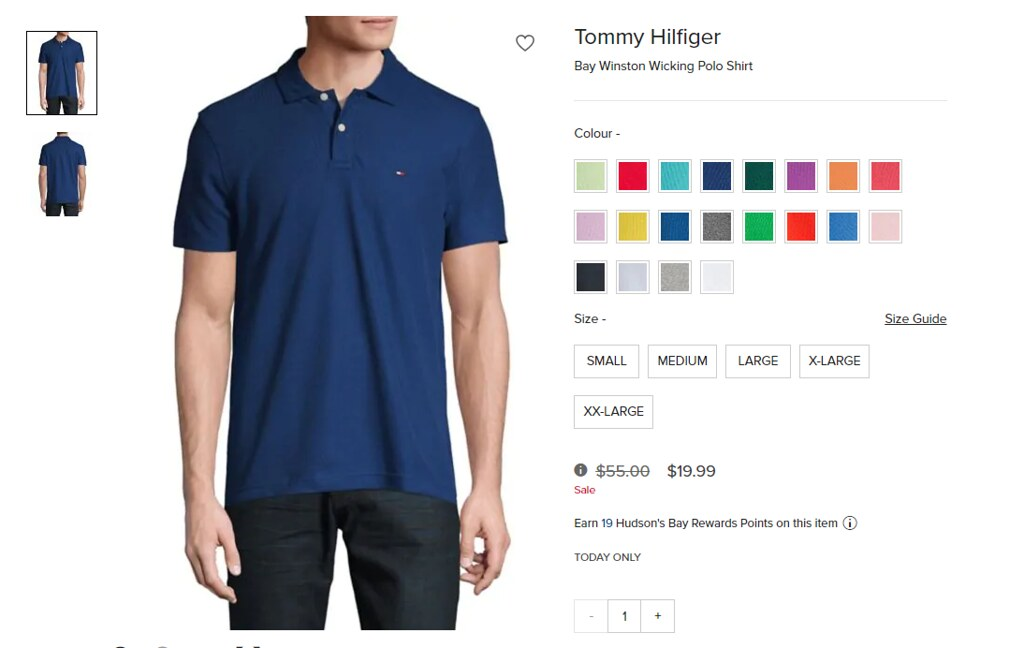 0170a630 Hudson's Bay One Day Sale: Tommy Hilfiger Polo Shirt for $19.99 ...