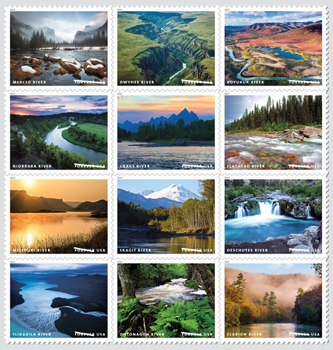 Forever stamps of the Wild and Scenic Rivers