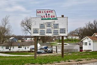 Welcome Sign, Verdon, NE