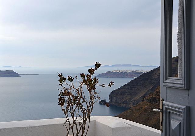 Una  finestra su Santorini