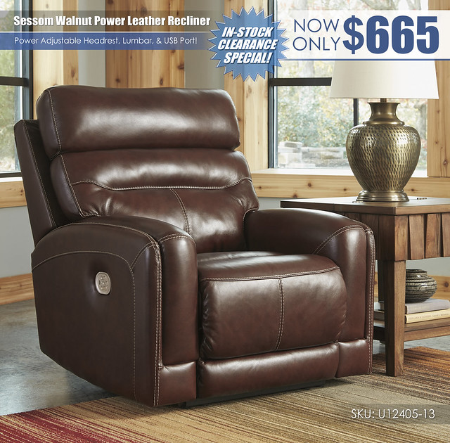 Sessom Walnut Power Recliner_U12405-13