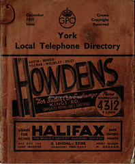 GPO Telephone Service - York local telephone directory, 1939, cover