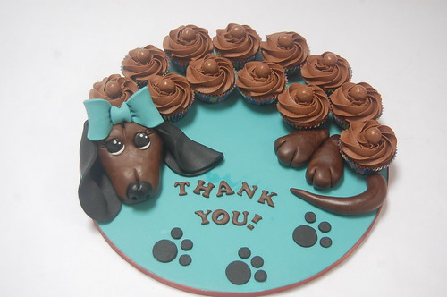 Magnificent Dachshund Cupcake Platter Beautiful Birthday Cakes Funny Birthday Cards Online Unhofree Goldxyz