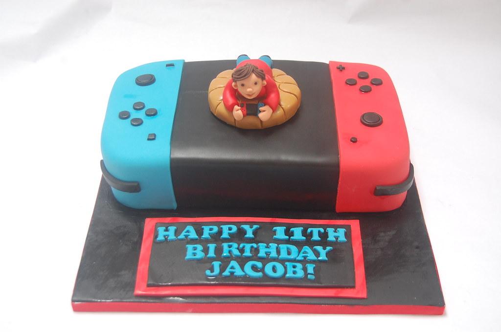 Super Nintendo Switch Cake Beautiful Birthday Cakes Personalised Birthday Cards Veneteletsinfo