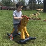 Ezra on a rocking horse