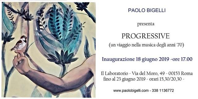 Invito Mostra PROGRESSIVE- A pictorical trip through the music of the '70s -