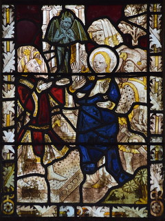 St Margaret brought before a king and tempted by the devil  (15th Century, south aisle se2)