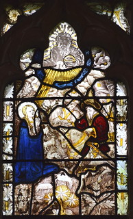 St Margaret tends sheep as Olybrius attempts to seduce her (15th Century, south aisle se2)