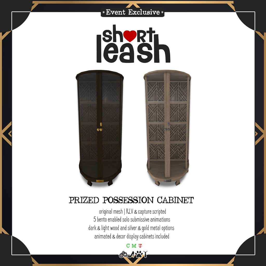 .:Short Leash:. Prized Possession Cabinet