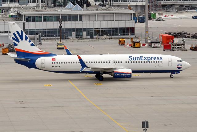 TC-SEY  -  Boeing 737-8HC (WL)  -  Sun Express  -  MUC/ EDDM 6-6-19