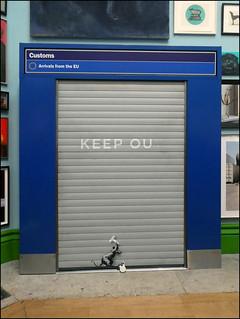 Banksy: KEEP OU