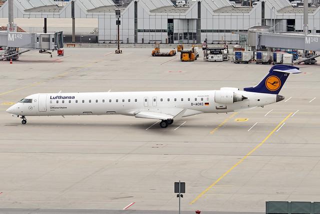 D-ACKC  -  Bombardier CRJ900LR  -  Lufthansa Cityline  -  MUC/EDDM 6-6-19
