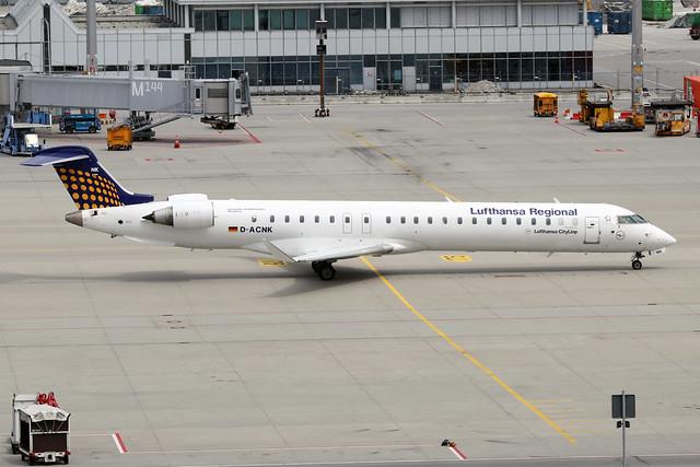 D-ACNK  -  Bombardier CRJ900LR  -  Lufthansa Cityline  -  MUC/EDDM 6-6-19