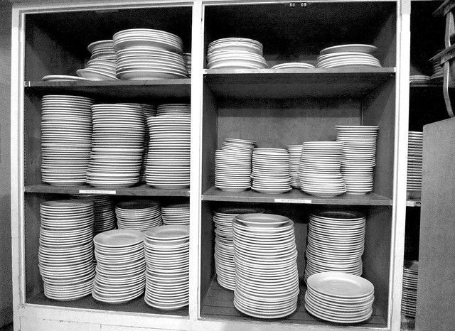 Stacked Monochrome Dinner Ware