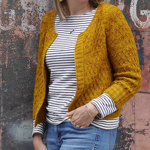 Marie Green of Olive Knits Beekeeper Cardigan