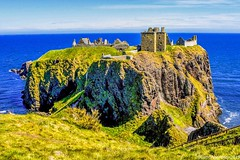 Dunnottar Castle - Stonehaven Aberdeenshire Scotland - 17th May 2019