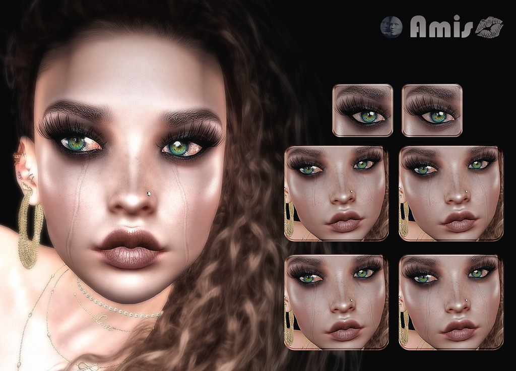 [Amis] Ali's Sorrow – 4 options of tears and 2 styles of eyeliner-eyeshadow (Genus)