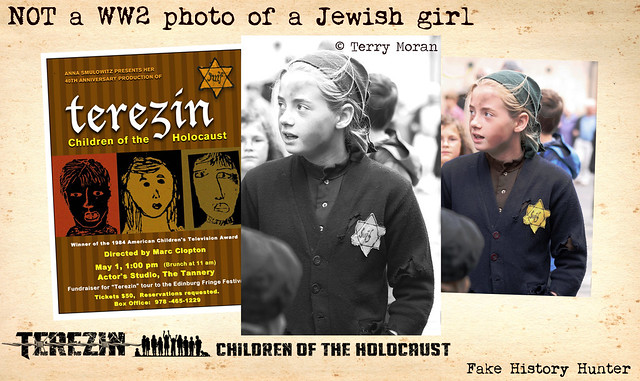 NOT a WW2 photo of a Jewish girl