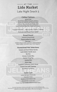 Holland America Nieuw Amsterdam - Lido Market Buffet: Late Night Snack Menu May 29, 2019 | by TheJellyBeans.net