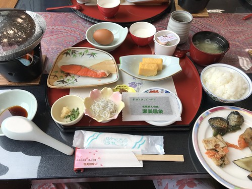 kitakami biztrip morioka japan japanesefood semi onsen hotsprings hotel ryokan relax brealfast happy morning