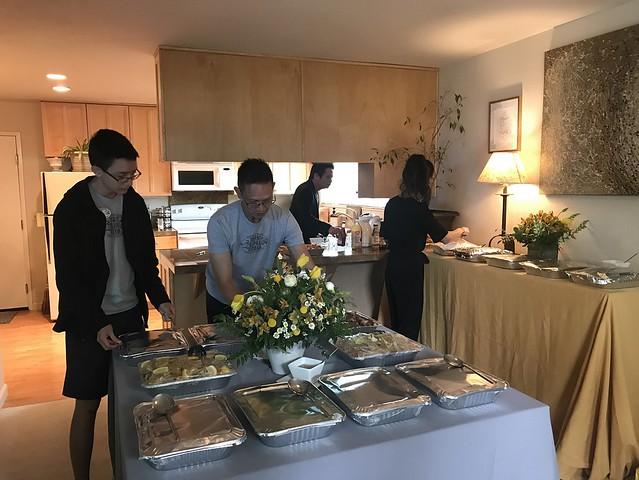 Tan Family Reunion - buffet table