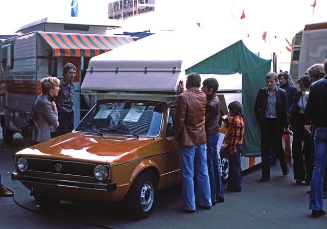 VW Rabbit and trailer  Sept 24 1977