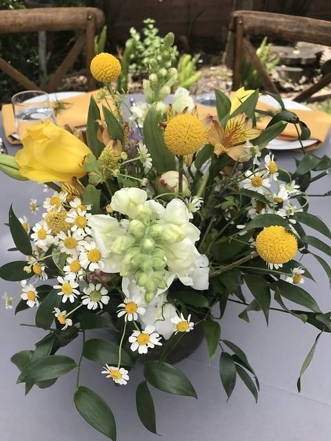 Tan Family Reunion - floral center piece