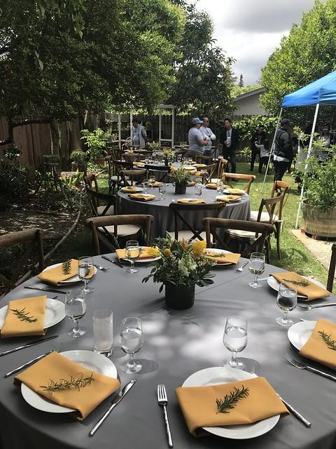 Tan Family Reunion, garden setting