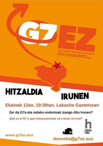 Charla sobre le G7 en Lakaxita, Irun