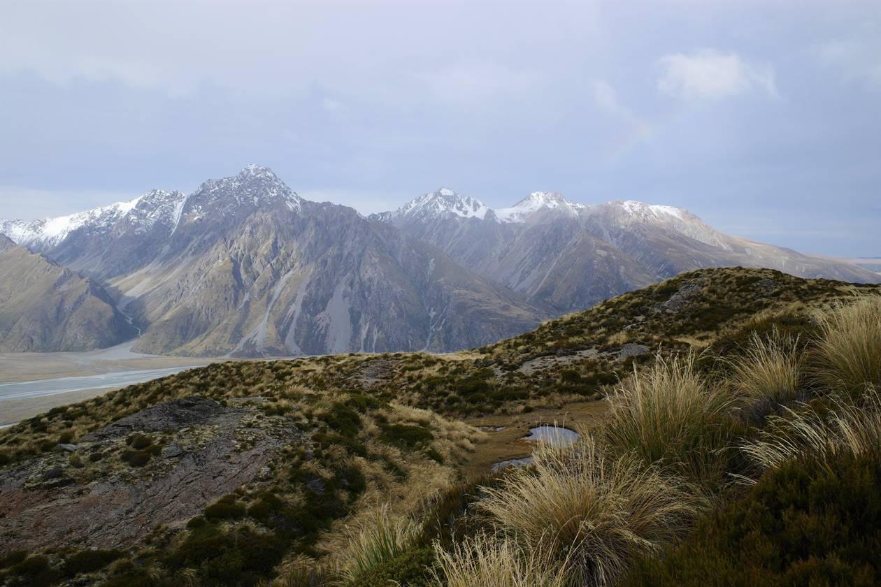 レッドターントラックからの山岳風景