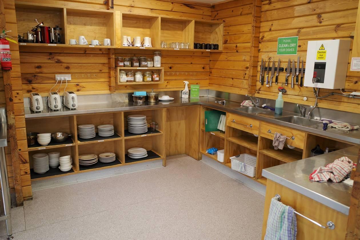 YHAマウントクック キッチンと食器