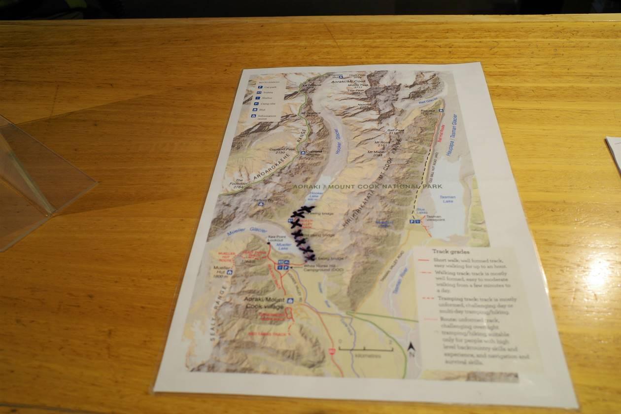 マウントクック地図