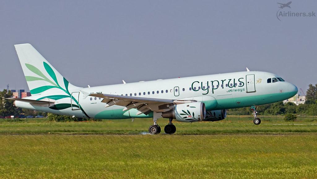 5B-DCX Cyprus Airways Airbus A319-114