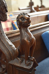 bench end: lion (15th Century)