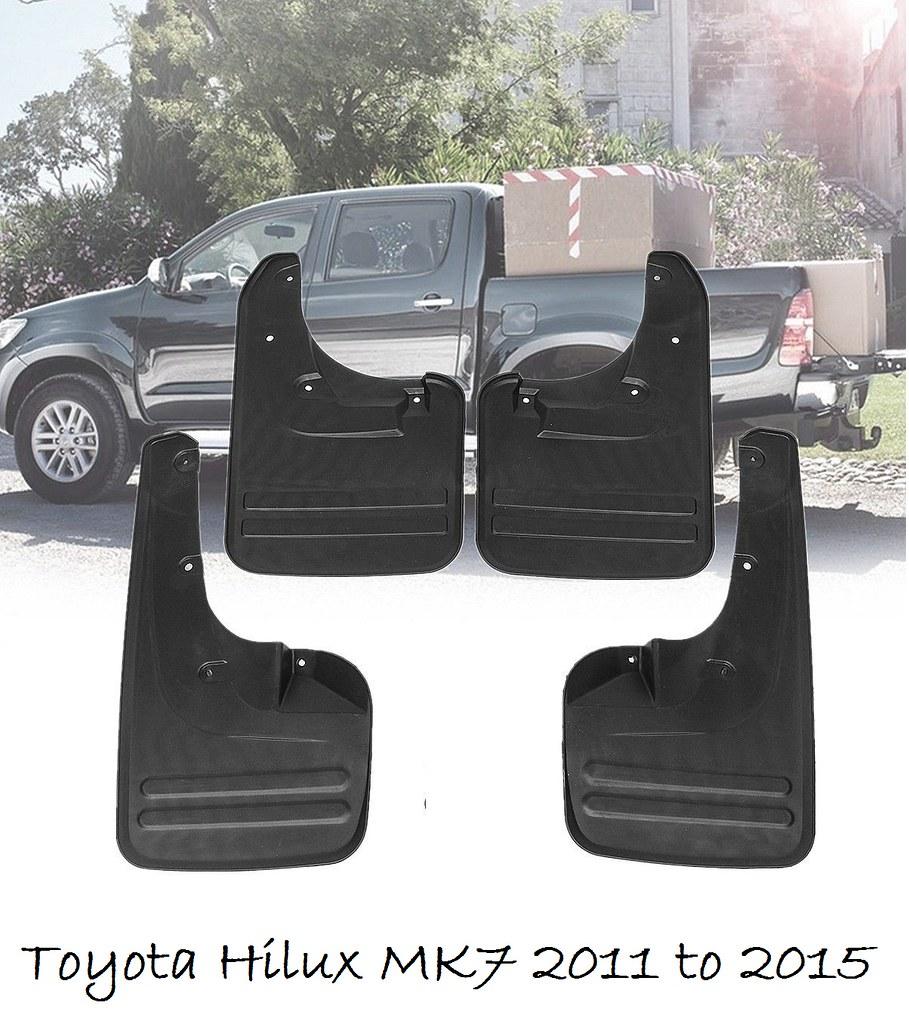 Mudflap Mudflaps Mudguards Set Front /& Rear Hilux Vigo Mk6 2011-2015