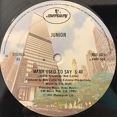JUNIOR:MAMA USED TO SAY(LABEL SIDE-A)