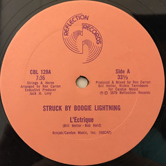 L'ECTRIQUE:STRUCK BY BOOGIE LIGHTNING(LABEL SIDE-A)