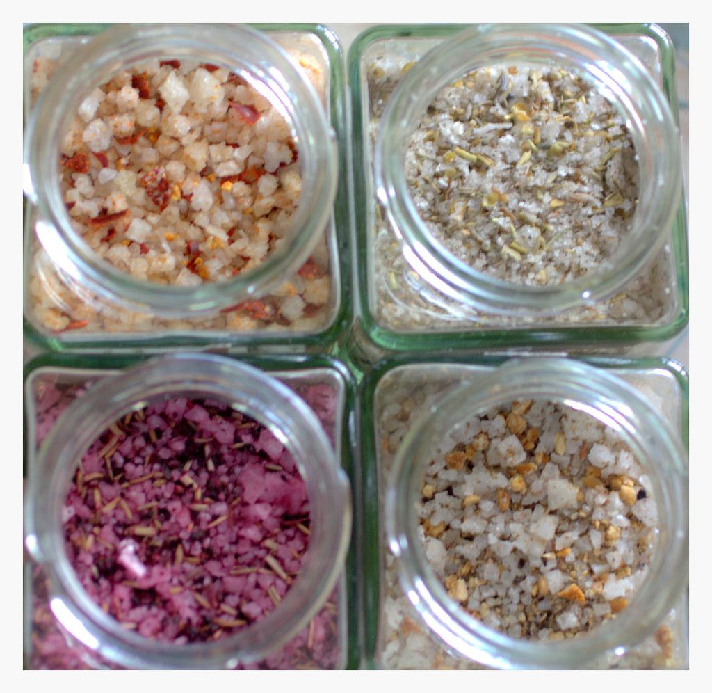 Flor de sal aromatizadas para cocina