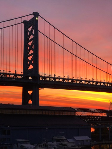 bridge sunrise benfranklinbridge