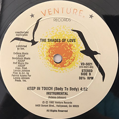 THE SHADES OF LOVE:KEEP IN TOUCH(BODY TO BODY)(LABEL SIDE-B)