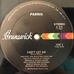 PARRIS:NEVER TAKE YOUR LOVE(LABEL SIDE-B)