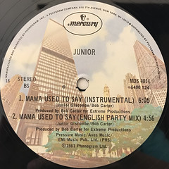 JUNIOR:MAMA USED TO SAY(LABEL SIDE-B)