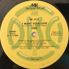 CHIC:I WANT YOUR LOVE(LABEL SIDE-A)