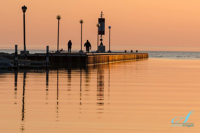 Bayfield Pier in Peach