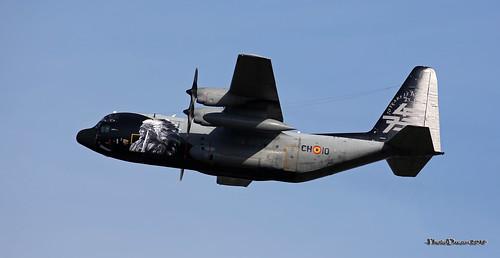 BAF C-130H CH-10 Special markings taking off at KB saturday 8 september 2018 2018-09-08 09-55-24_0222 mod et signé