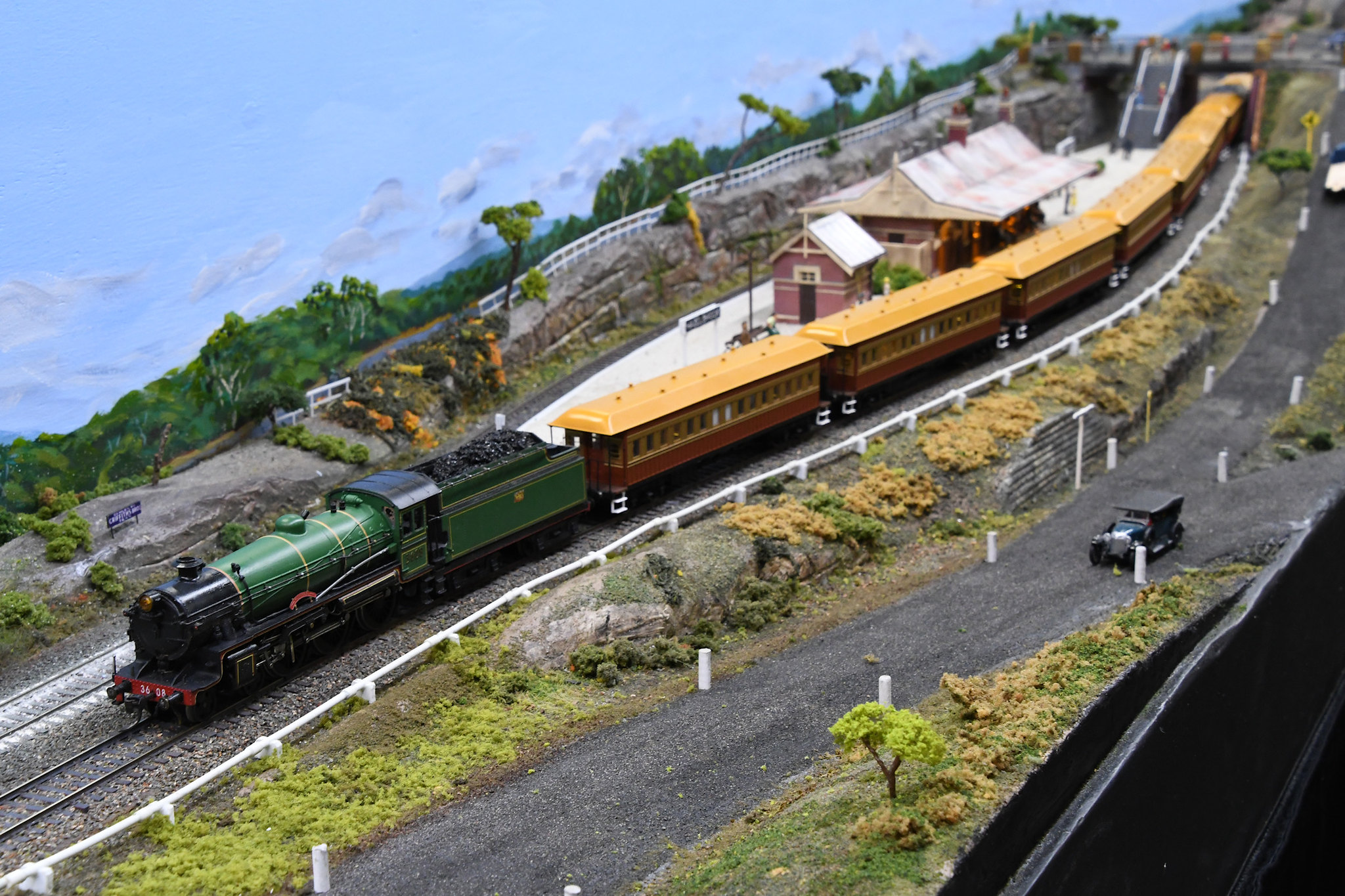 3608, Blue Mountains Layout, Epping Model Railway Exhibition, Rosehill, Sydney, NSW.